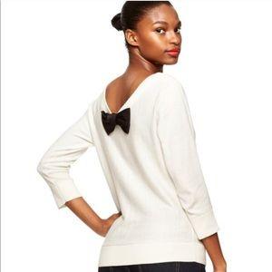 Kate Spade Cream Bow Back Sweater